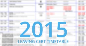 leaving cert 2015 timetable